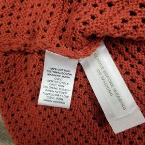 LOFT Tops - Ann Taylor loft burnt orange peplum knit top.
